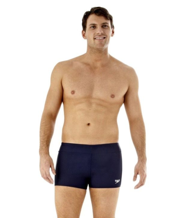 Speedo Navy Men Aqua Shorts