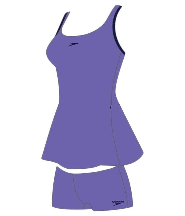 Speedo Violet Racer - Back Swim Dress/ Swimming Costume