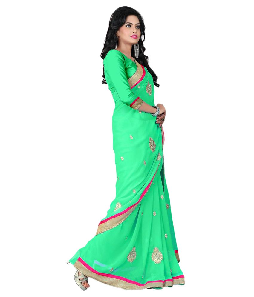 MMF Turquoise Jacquard Saree