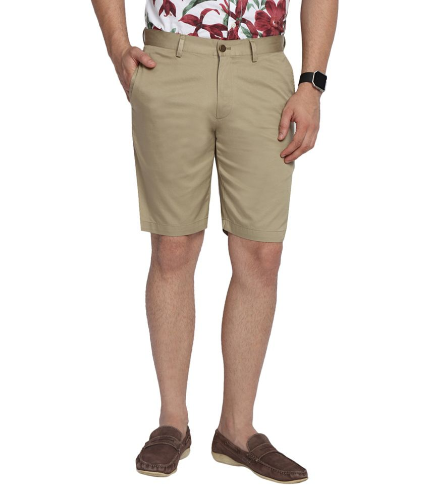 SUITLTD Beige Slim Fit Twill Chino Shorts