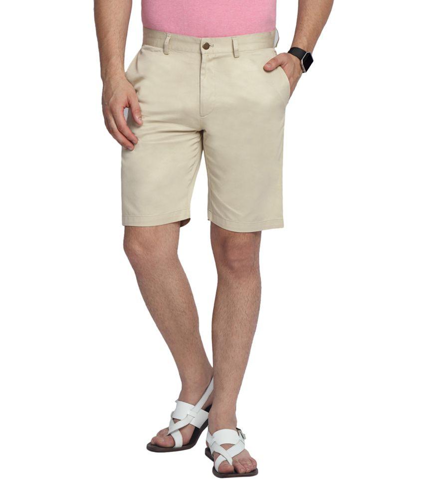 SUITLTD Lt.Beige Slim Fit Twill Chino Shorts