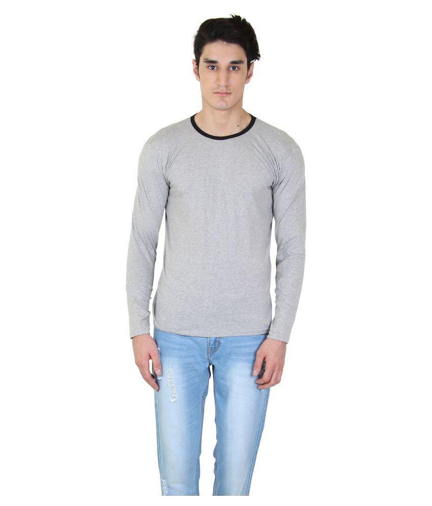 BI Fashion Grey Round T Shirt