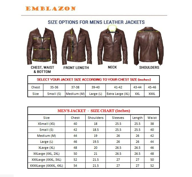 Blazer Size Chart