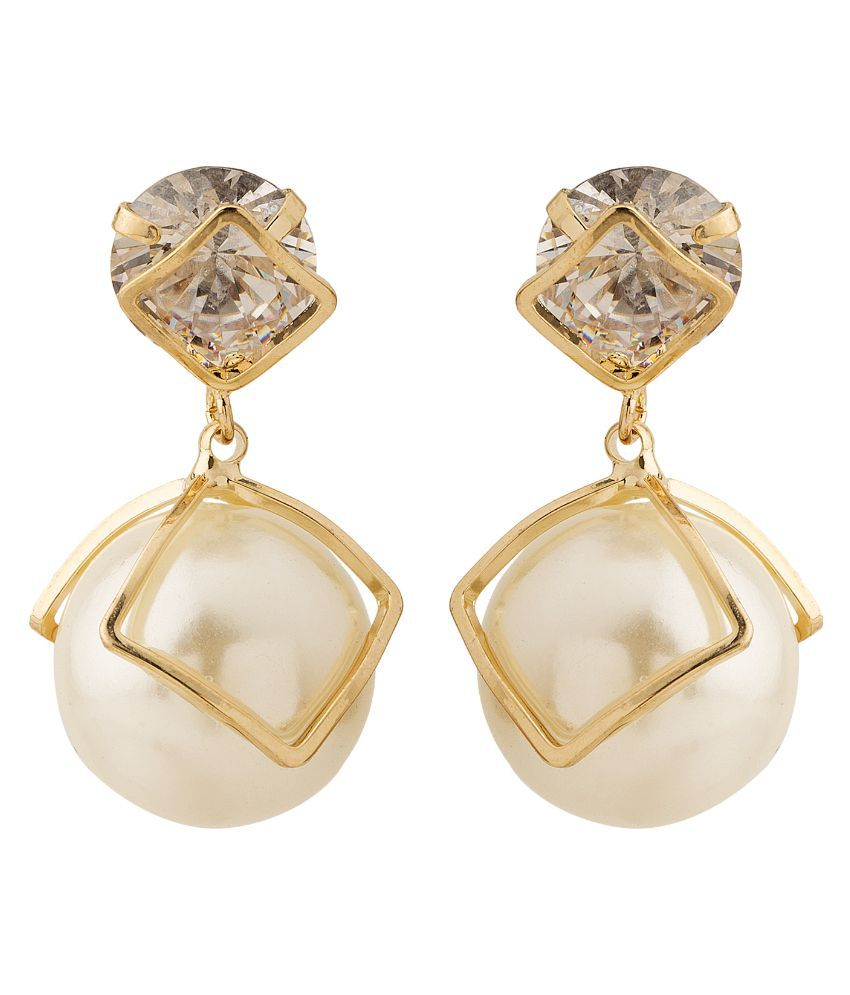 Gioiabazaar Golden Drop Earrings