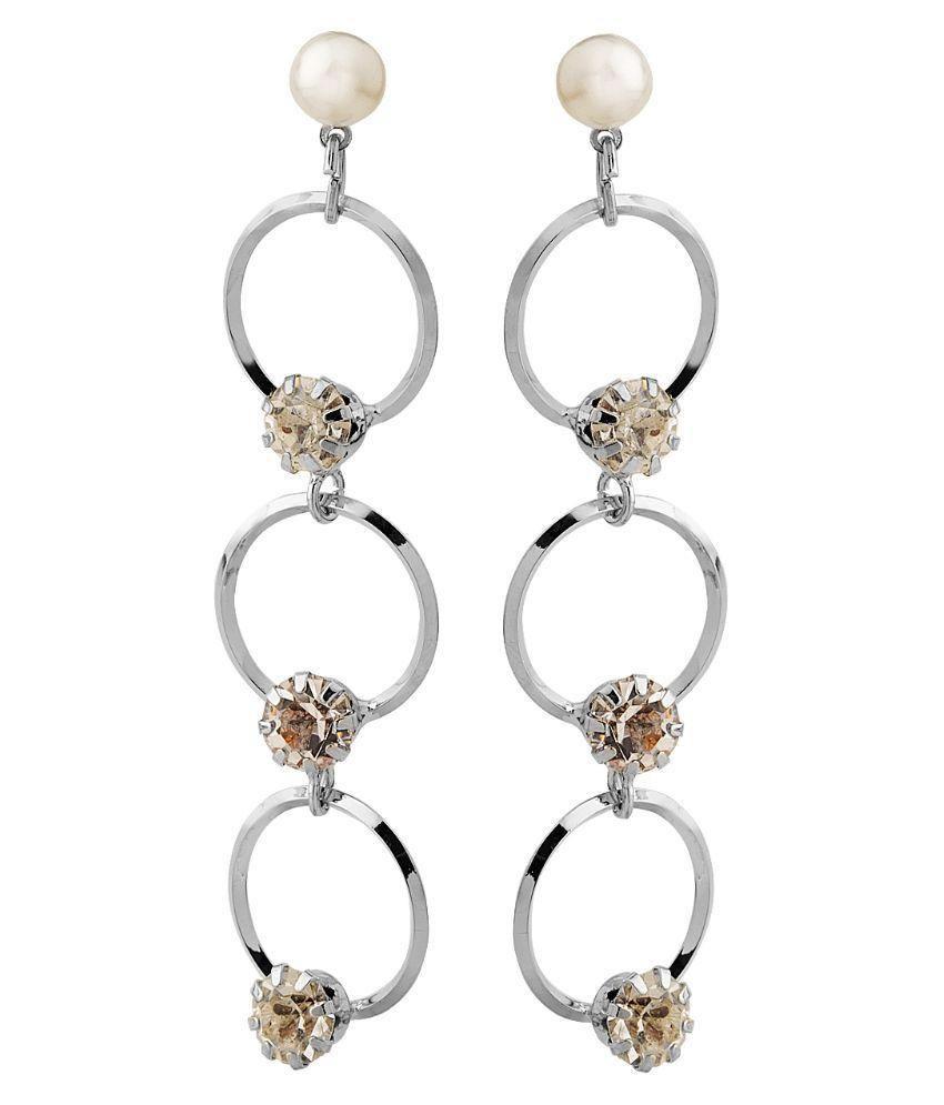 Gioiabazaar Silver Hanging Earrings