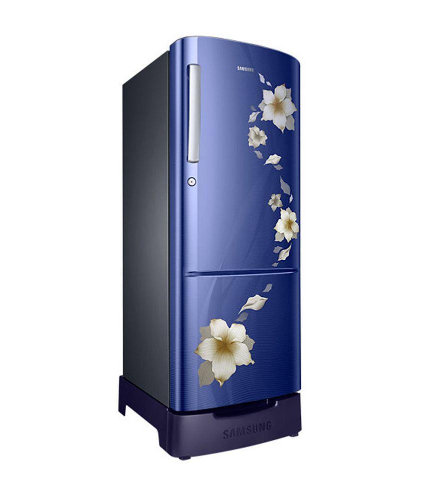 Samsung 212 Ltr 5 Star RR22K287ZU2/NL Single Door Refrigerator - Star  Flower Blue [2016 Model]