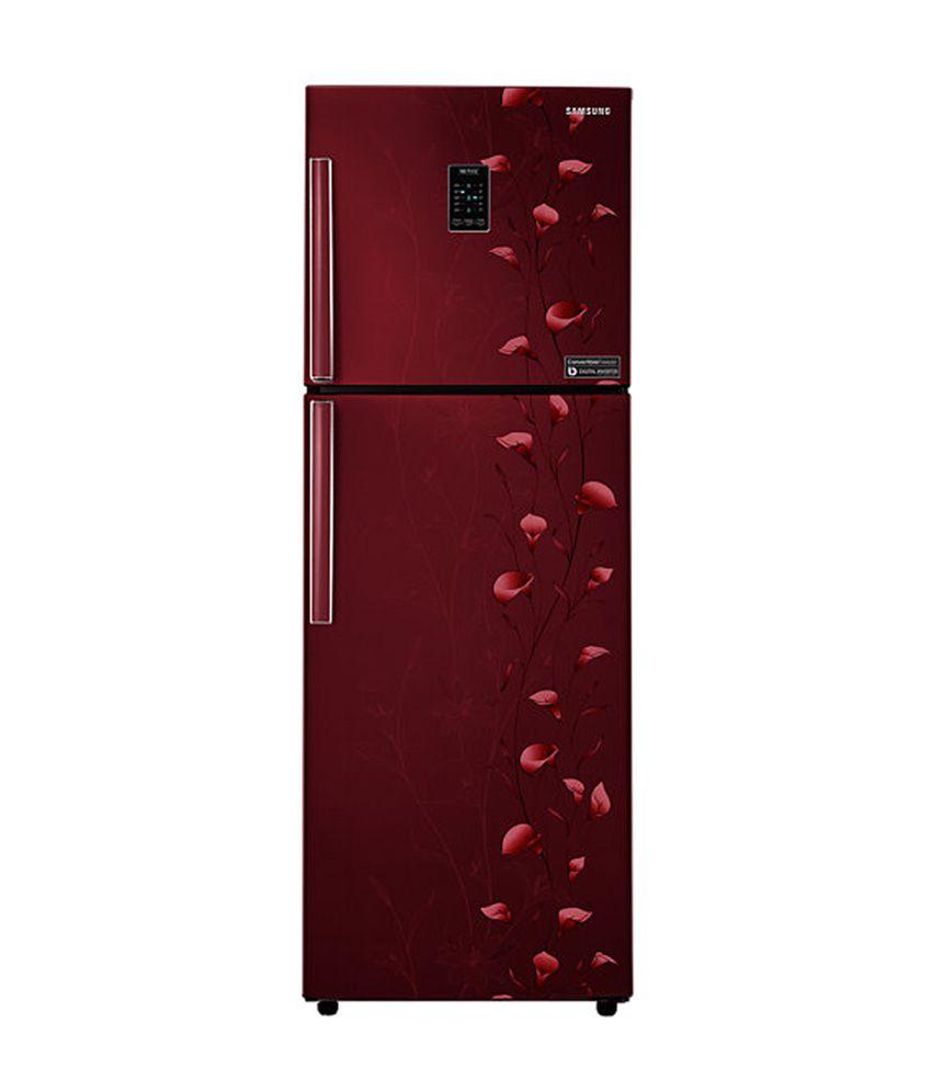 Samsung 318 Ltr 3 Star RT34K3983RZ/HL Double Door Refrigerator [Convertible Freezer] - Tender Lily Red