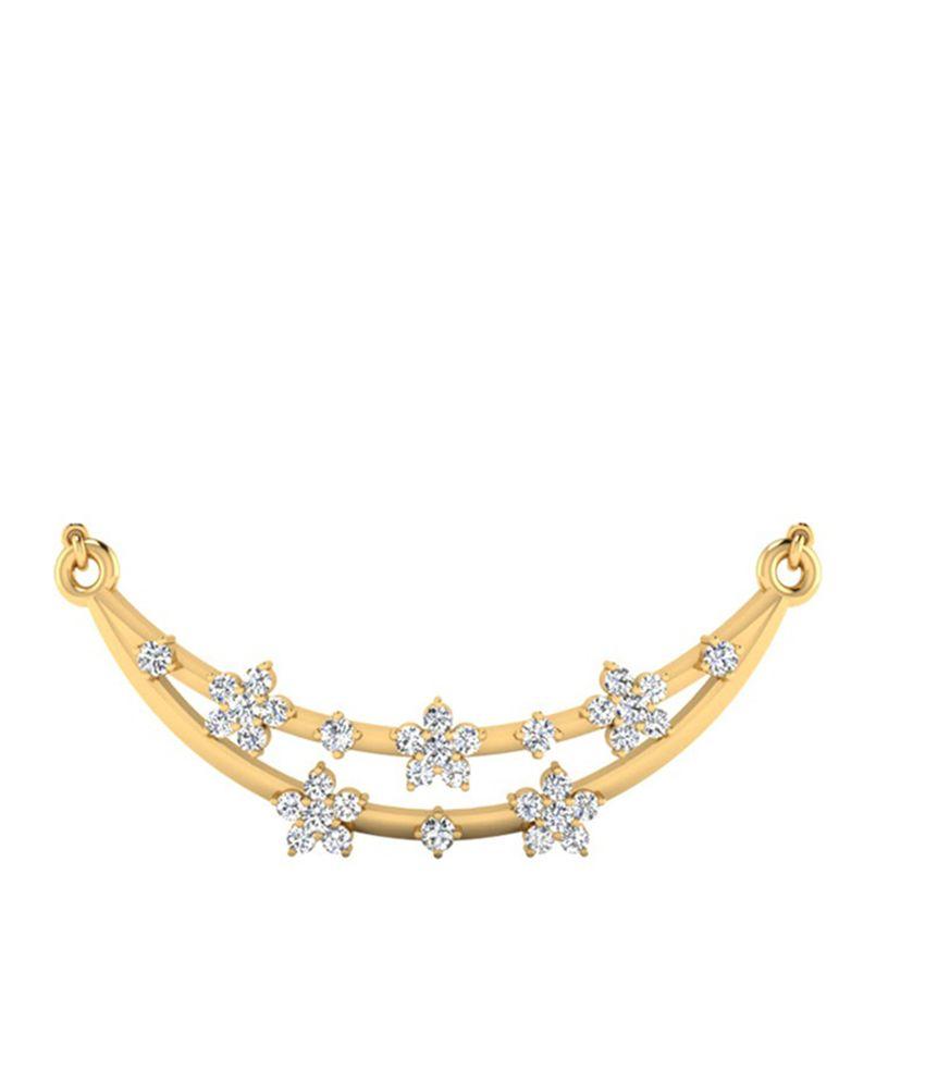 Carat Forever 18Kt Gold Diamond Mangalsutra