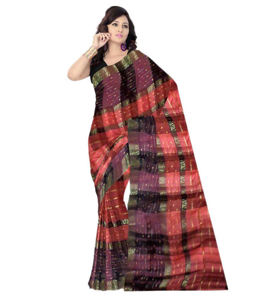 abc7859bda2 Odisha Saree Store Brown and Maroon Cotton Saree - Buy Odisha Saree Store  Brown and Maroon Cotton Saree Online at Low Price - Snapdeal.com