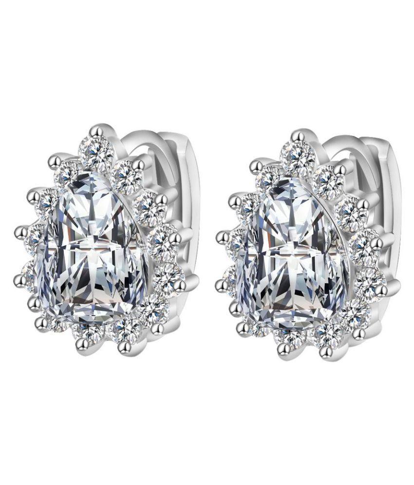 Waah Waah Silver Copper CZ Stud Earrings