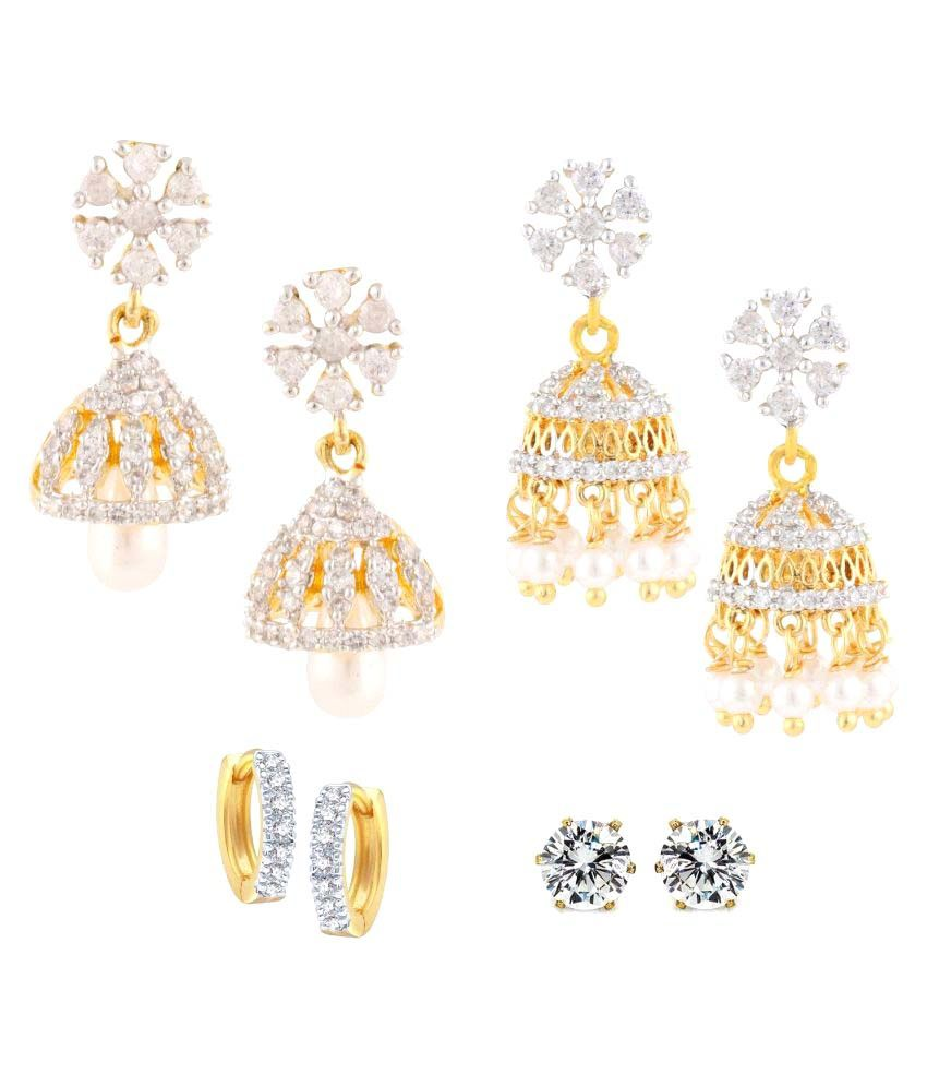 Archi Collection Multicolour Earrings - Pack of 4