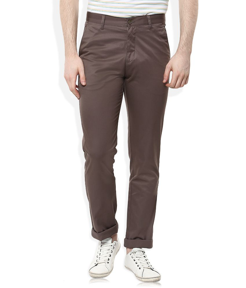 Indigo Nation Khaki Slim Fit Chinos
