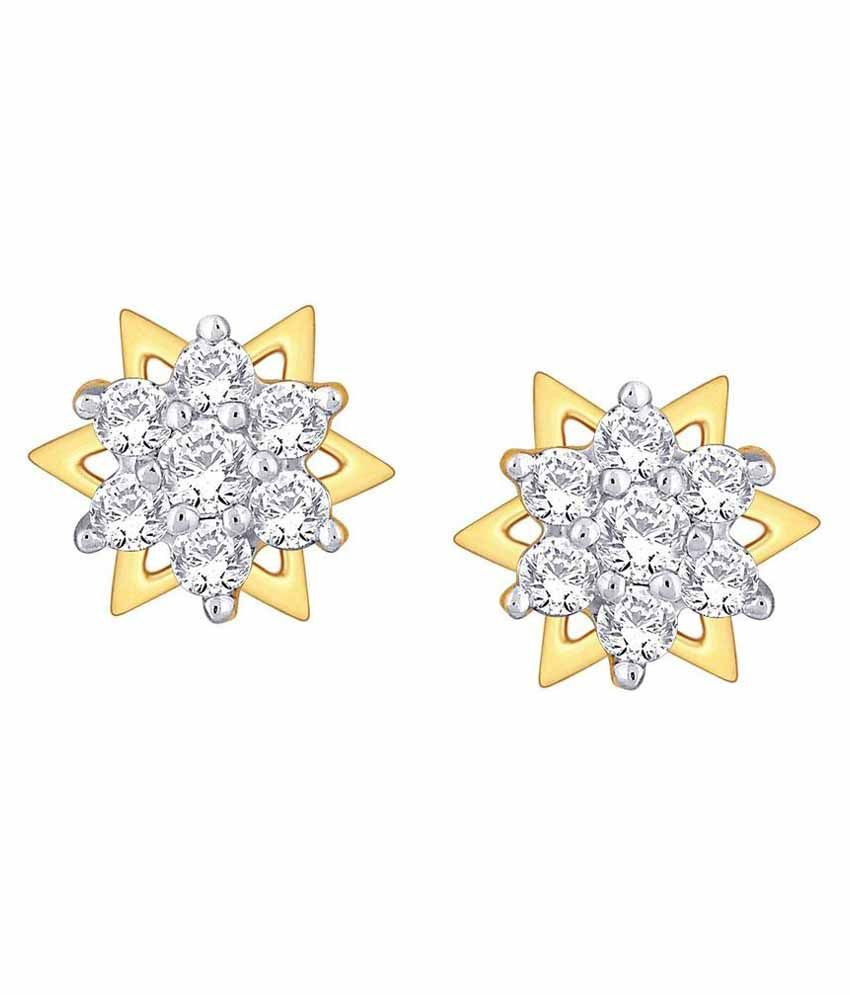 Nakshatra 18kt BIS Hallmarked Yellow Gold Diamond Studs