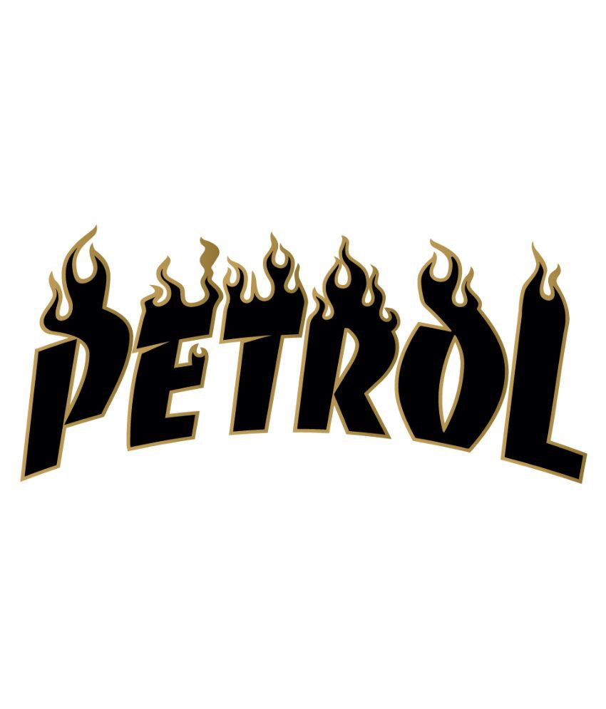 Car sticker design in india - Walldesign Petrol Printed Fuel Tank Car Sticker