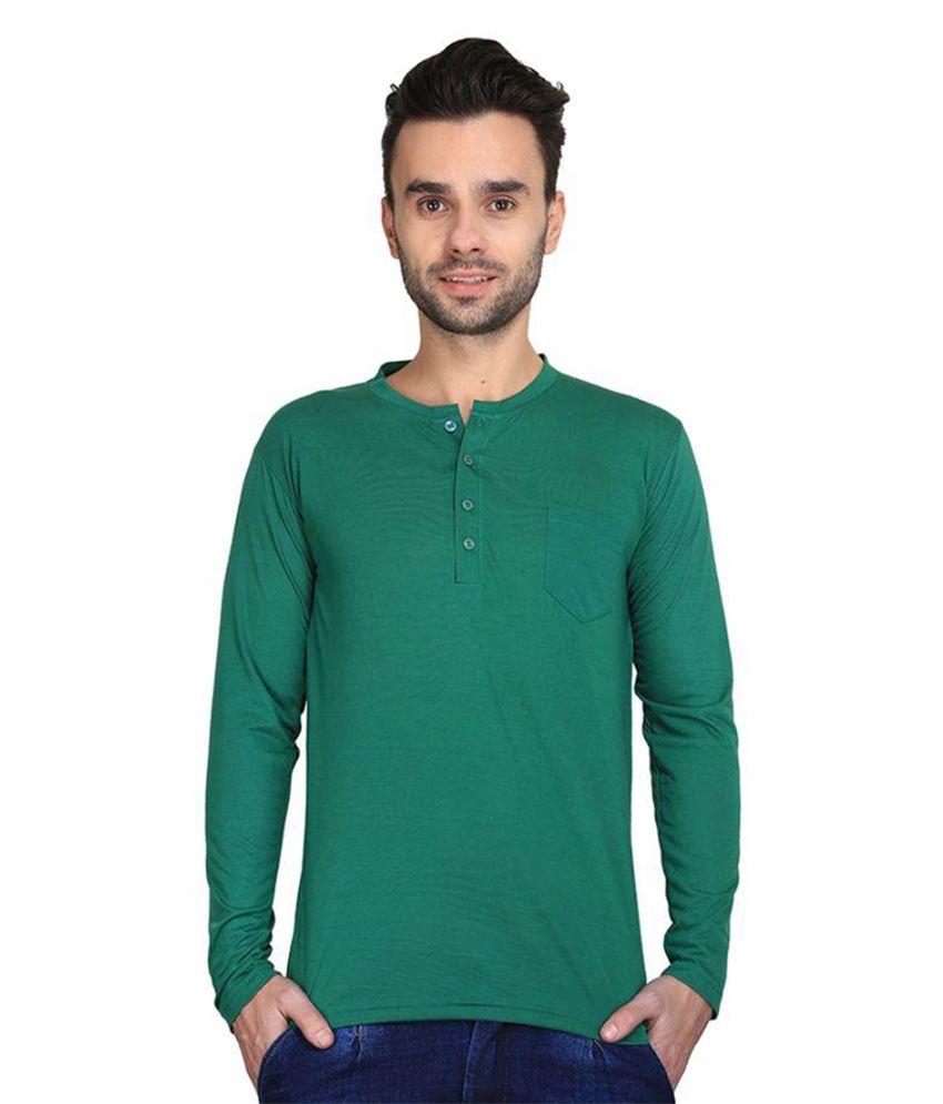 Cee-For Green Henley T Shirt