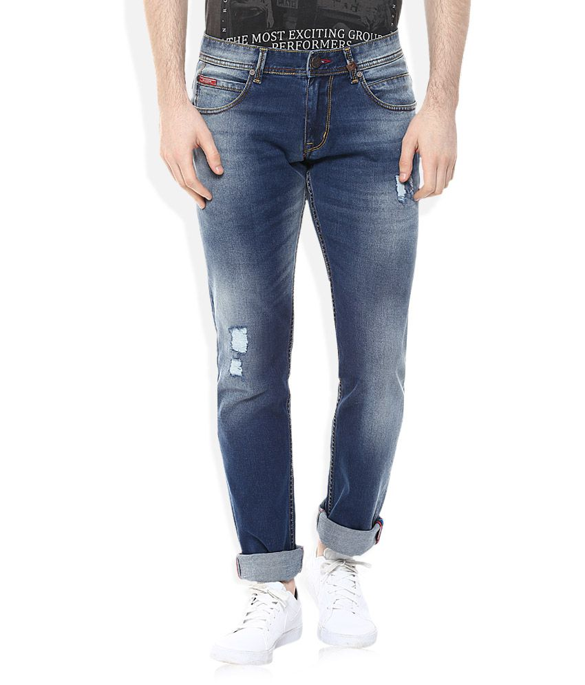 Lee Cooper Blue Straight Fit Jeans
