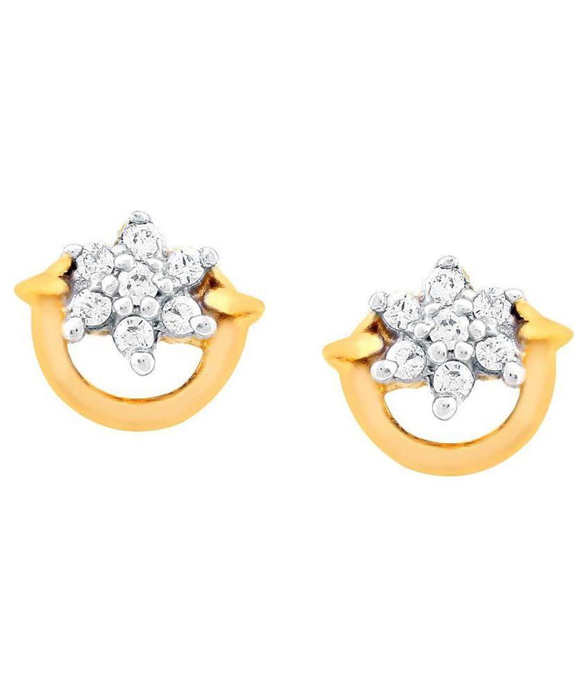 Nakshatra 18kt BIS Hallmarked Yellow Gold Diamond Studs
