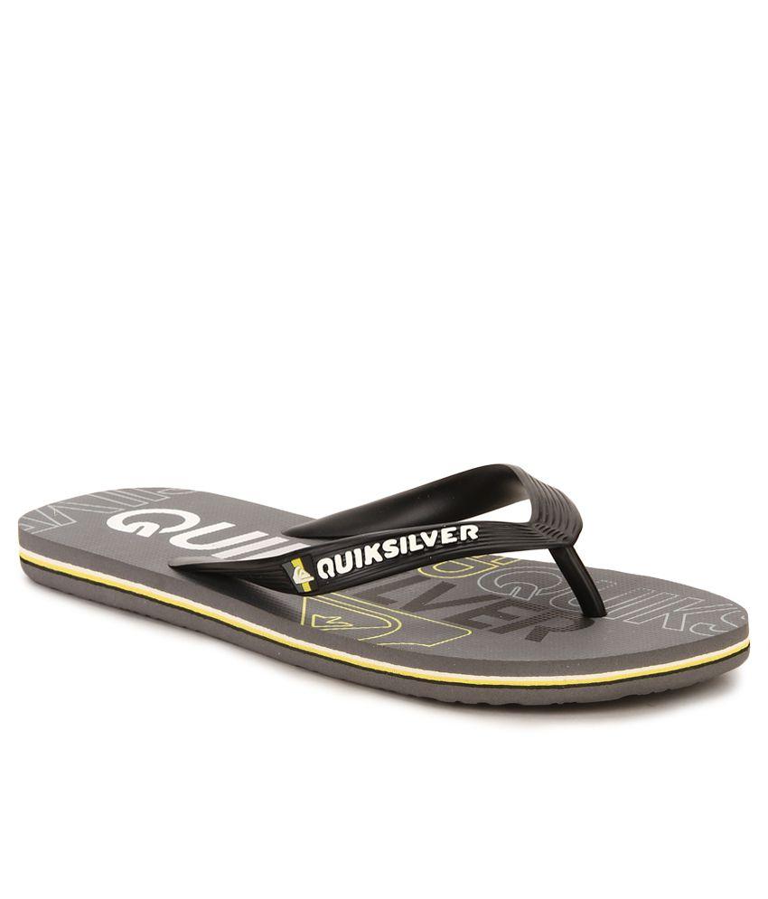1cf6634a24b8 Quiksilver Molokai Nitro M Black Flip Flops Price in India- Buy Quiksilver Molokai  Nitro M Black Flip Flops Online at Snapdeal