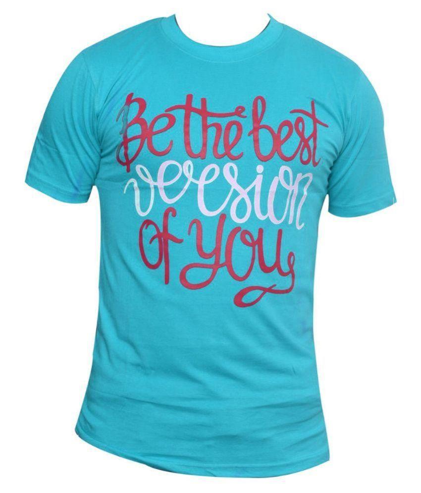 Stallion Blue Round T Shirt