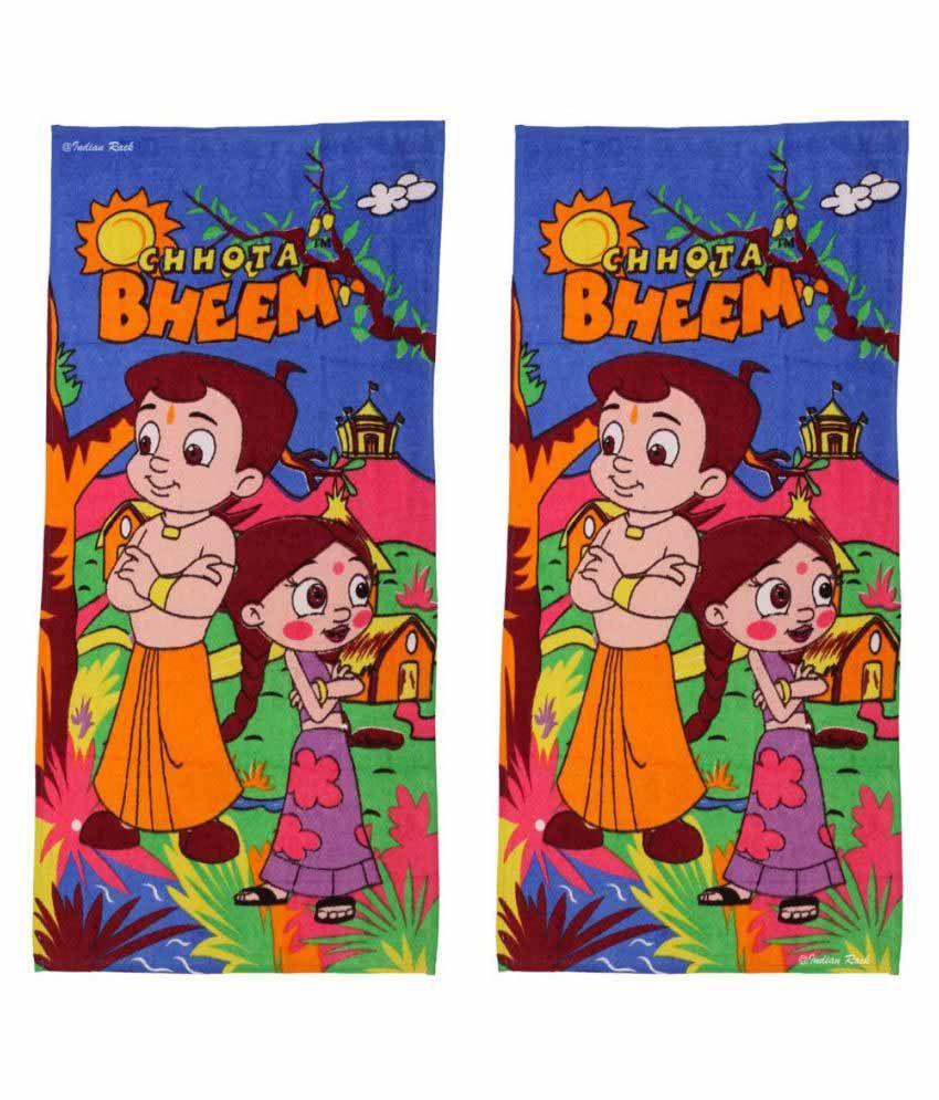 Indian Rack Multi Cotton Bath Towels 2 Kids Towels