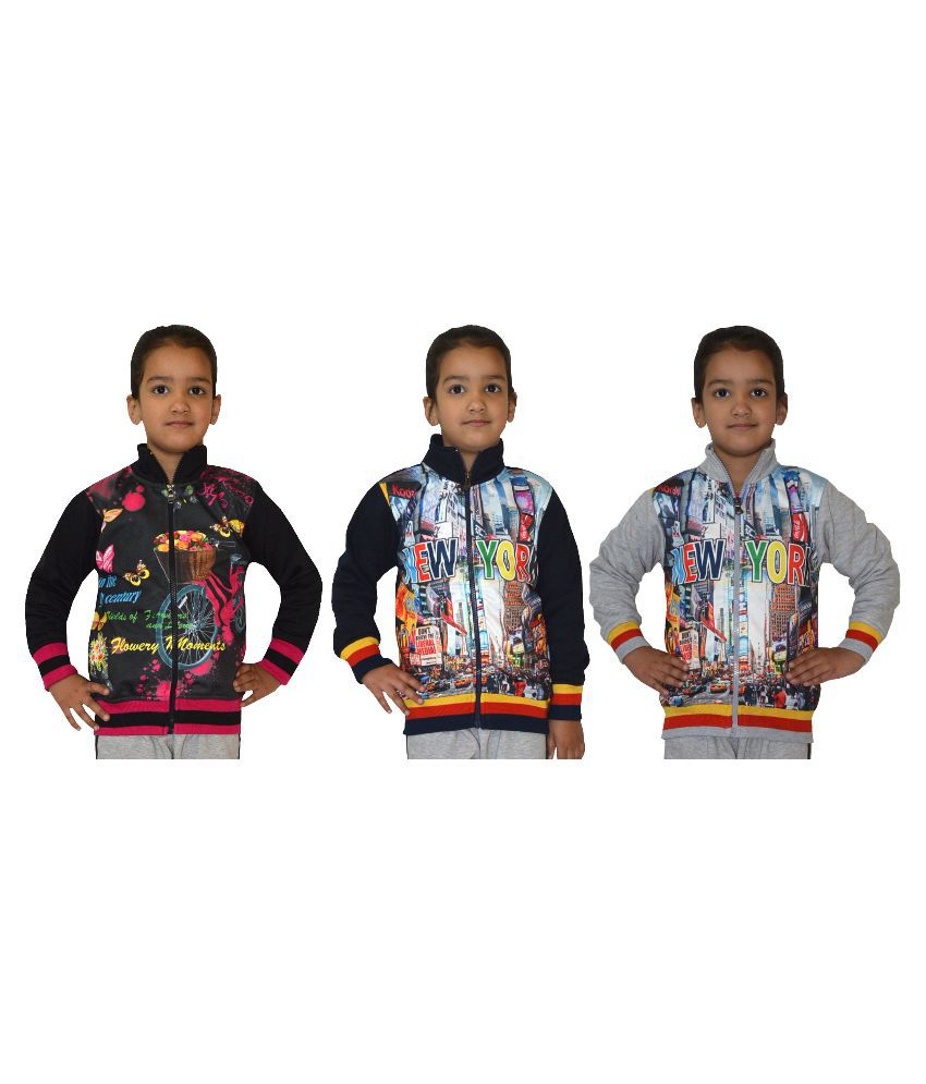 Shaun Multicolor Wollen Sweatshirt - Pack of 3
