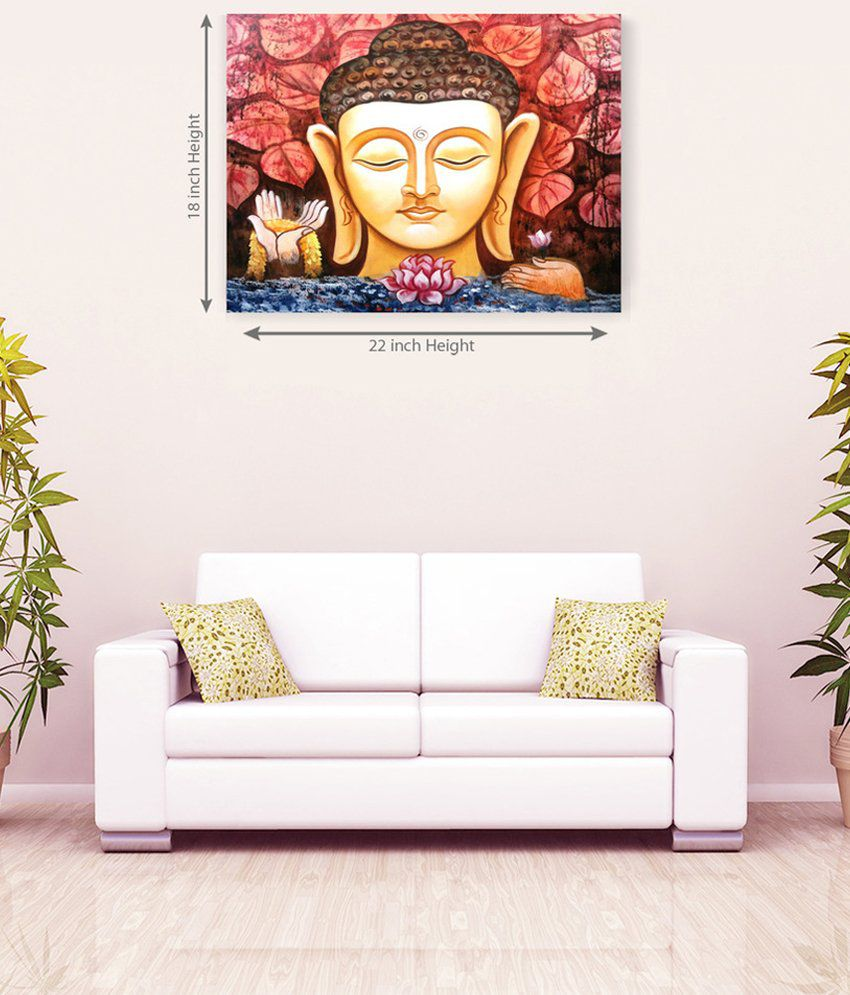 Sky Trends Lord Buddha Stylish Canvas Painting