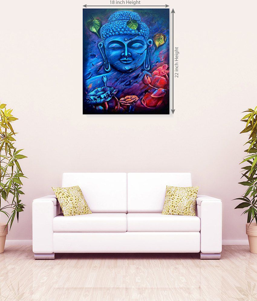 Sky Trends Buddha Attractive Colorful Canvas Wall Painting