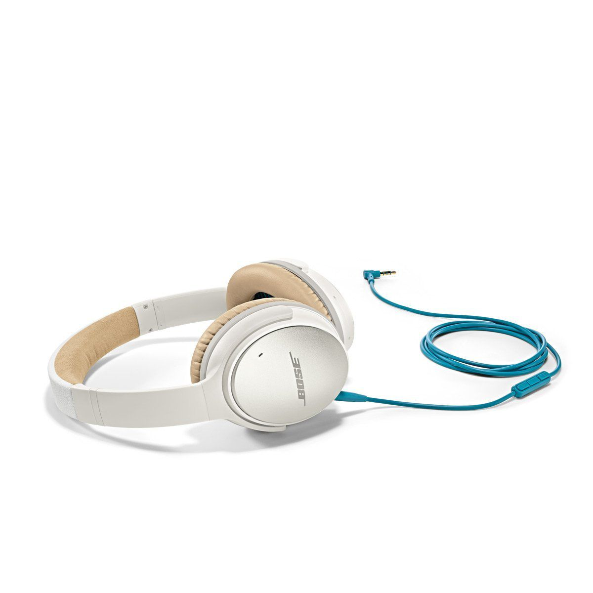 bose noise cancelling headphones white. white bose quietcomfort 25 acoustic noise cancelling headphones for samsung and android devices,