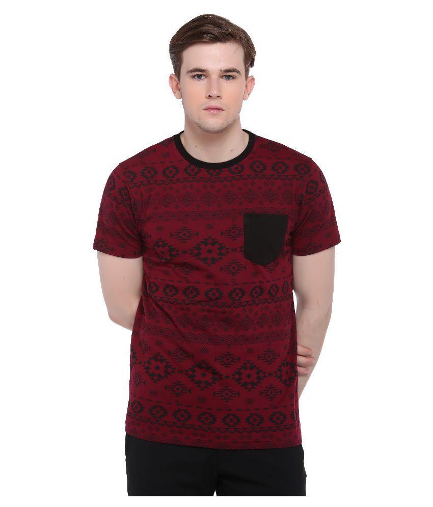 Club York Maroon Round T Shirt