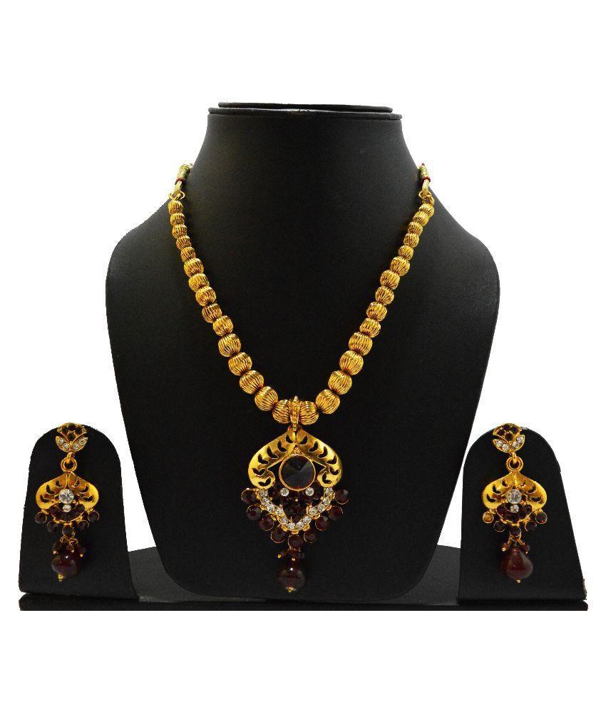 Clicktin Gold Necklace Set