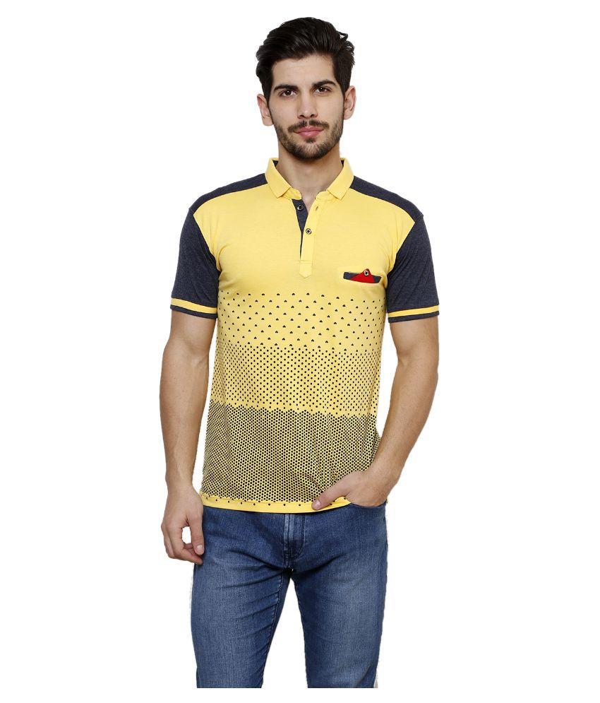 Freak'n By Cotton County Yellow Henley T Shirt