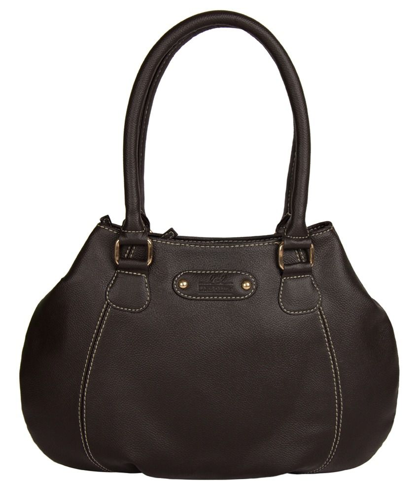 Lapis O Lupo Brown Faux Leather Shoulder Bag