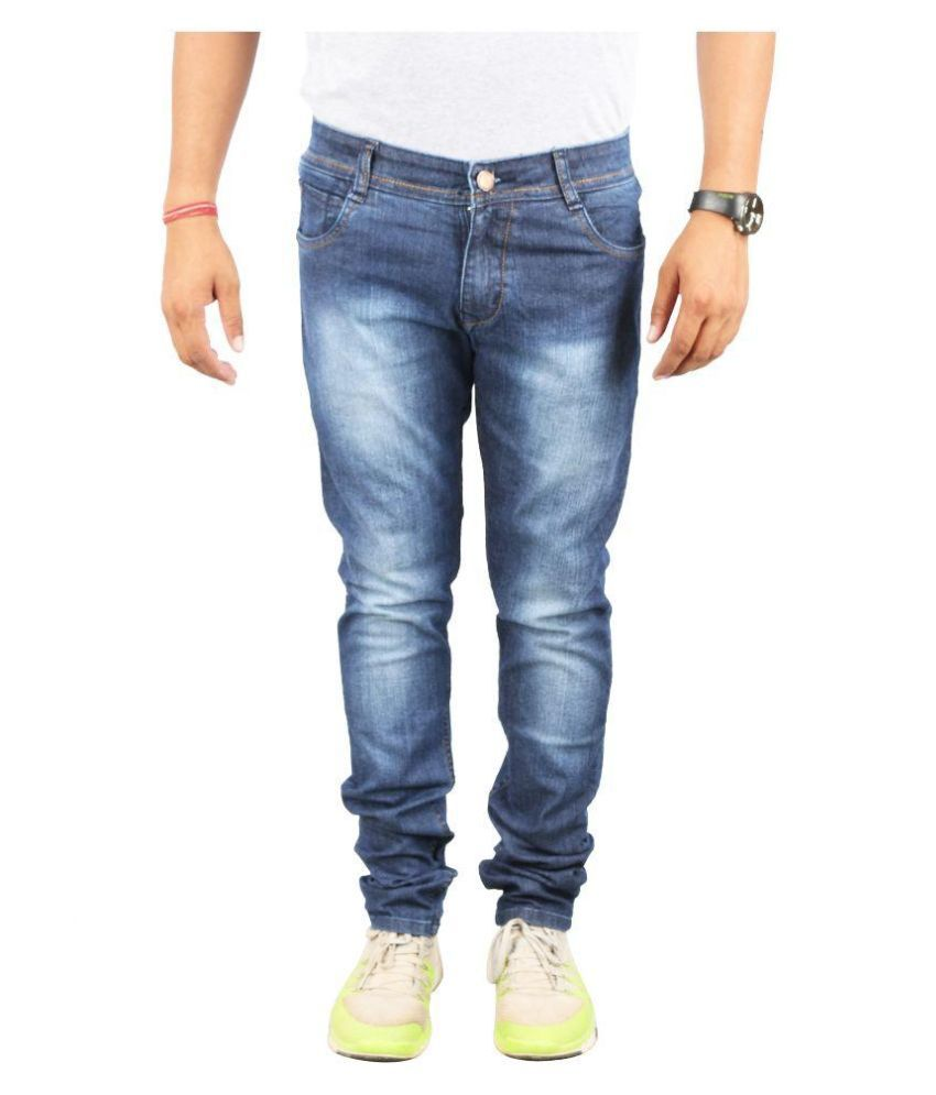 De Krono Blue Slim Fit Washed Jeans