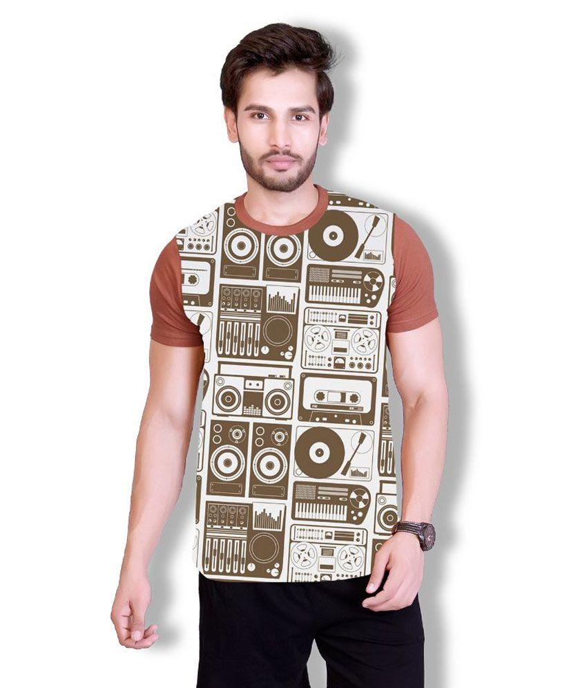 LUCfashion Brown Round T Shirt