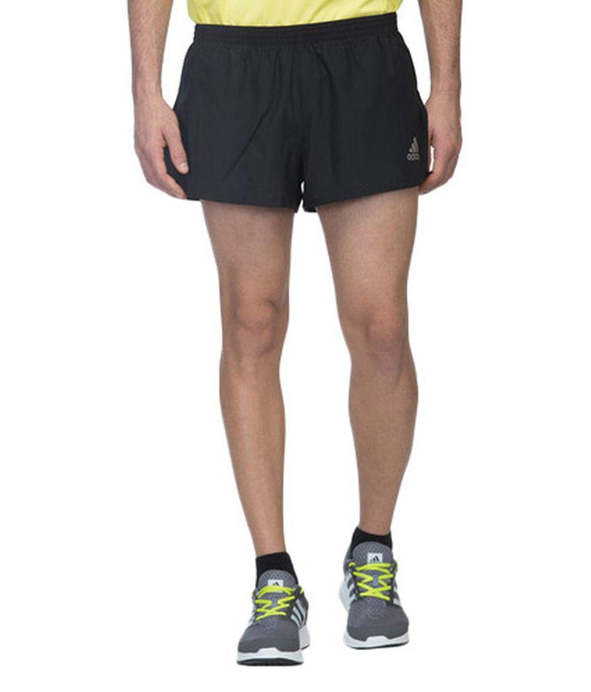 Adidas Black Men's Running Run Split Shorts
