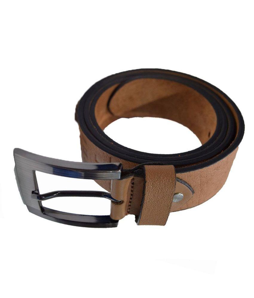 Moochies Beige Leather Belt