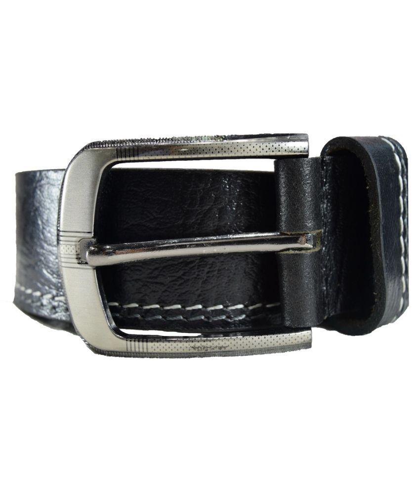 Tanned Hides Black Leather Belt
