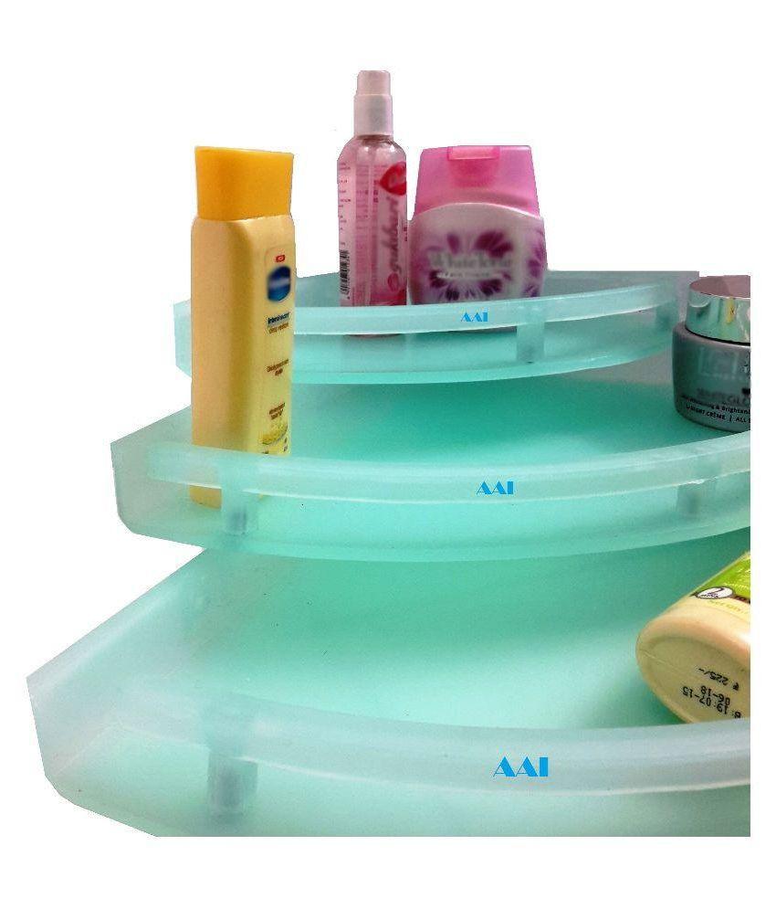 Buy AAI Green Pvc Corner Shelf - Set of 3 Online at Low Price in ...