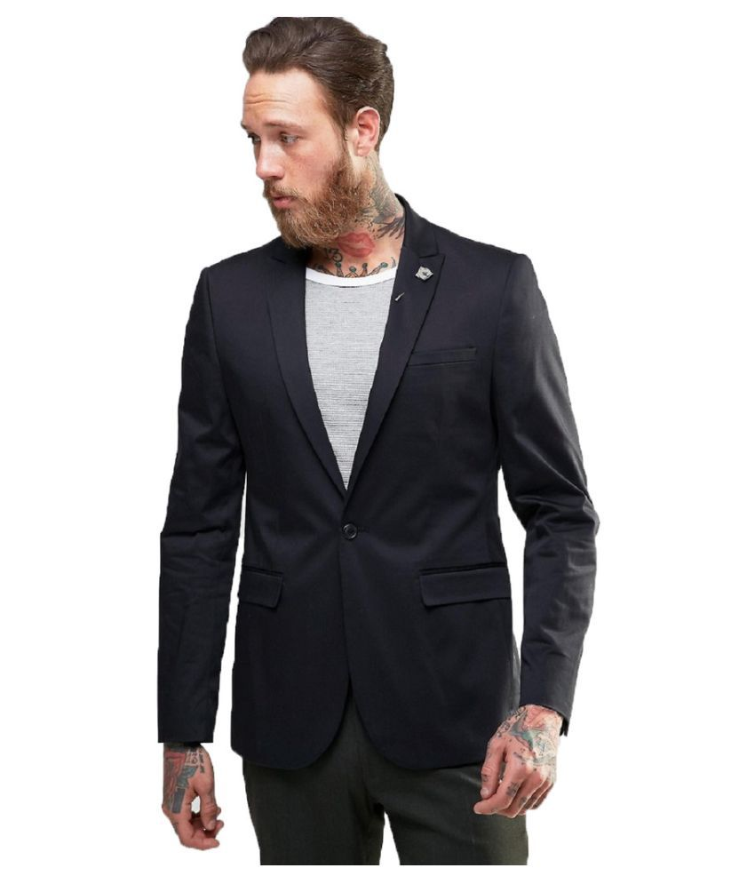 Protext Black Casual Blazers