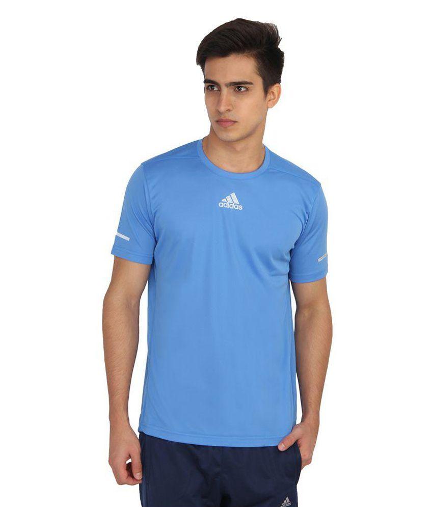 Adidas Blue Round T-Shirt
