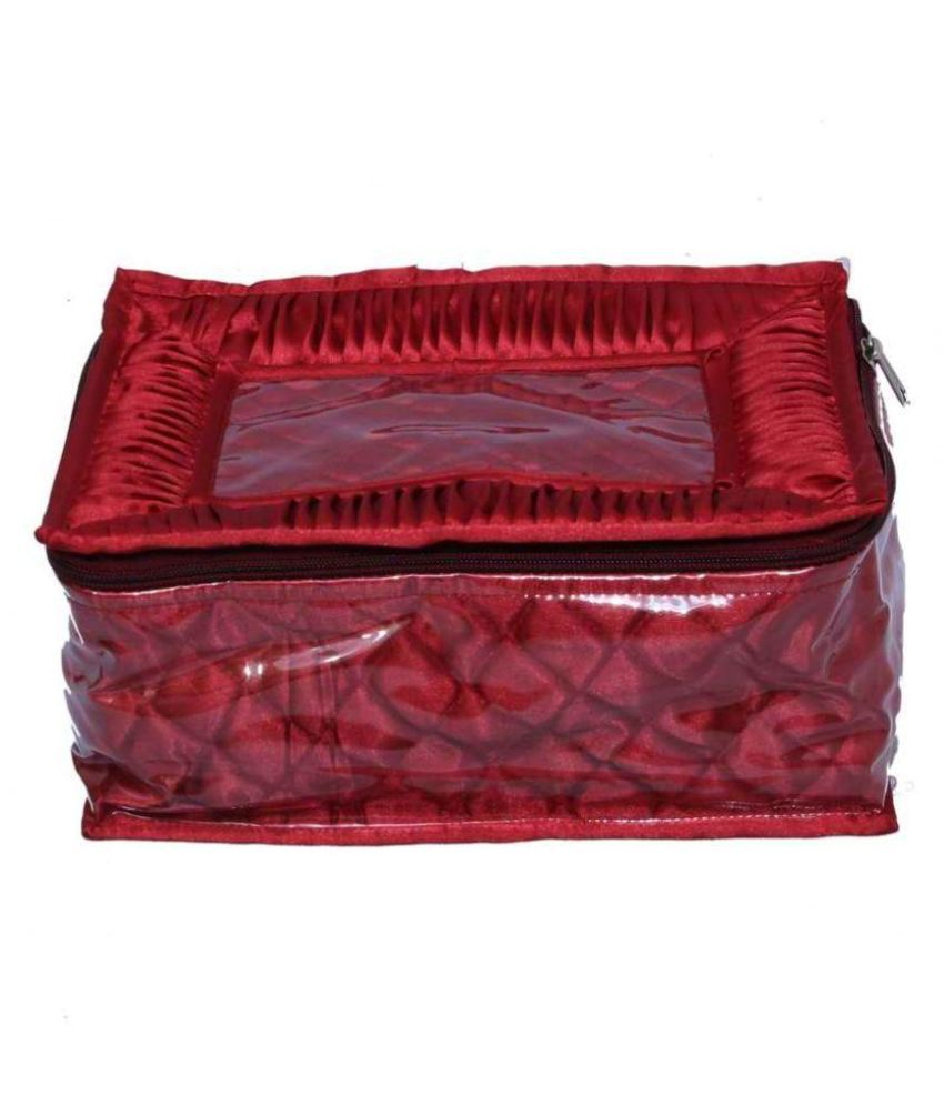 Hanu Enterprises Marron Fabric Jewellery Boxes - Pack of 12