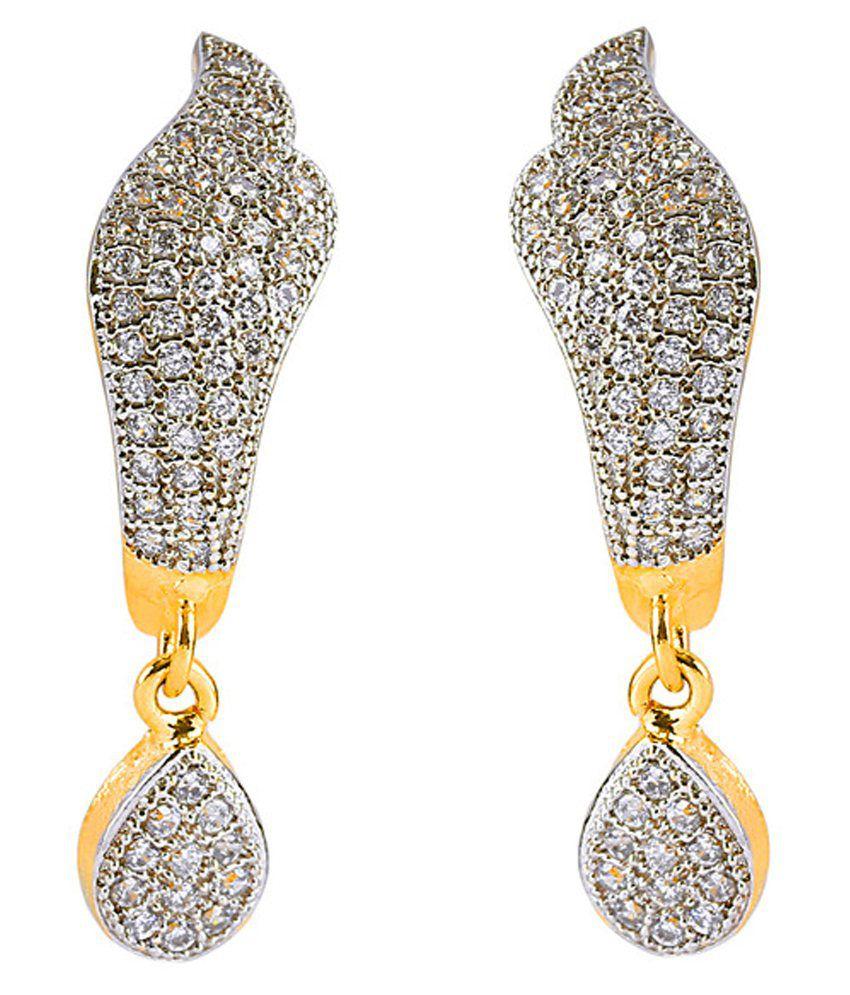 Sparsh Designer Golden Earrings - Buy Sparsh Designer Golden ...