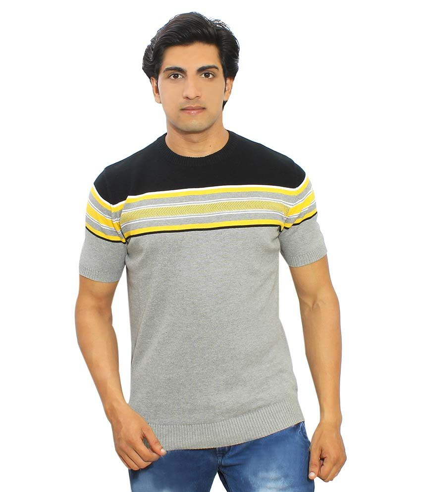 Thread Craft Grey Round T-Shirt