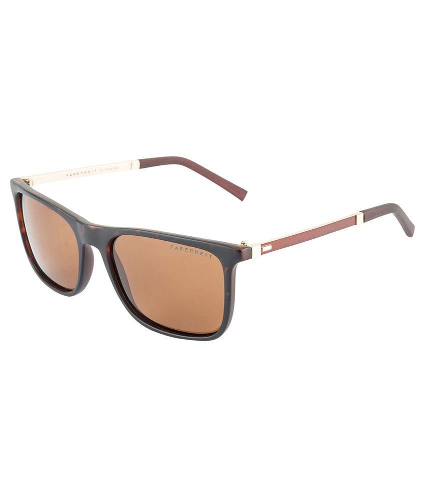 Farenheit Brown Wayfarer Sunglasses ( 1273P )
