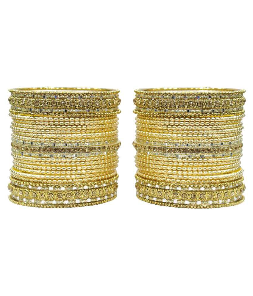 Much More Beige Alloy Bangle Set