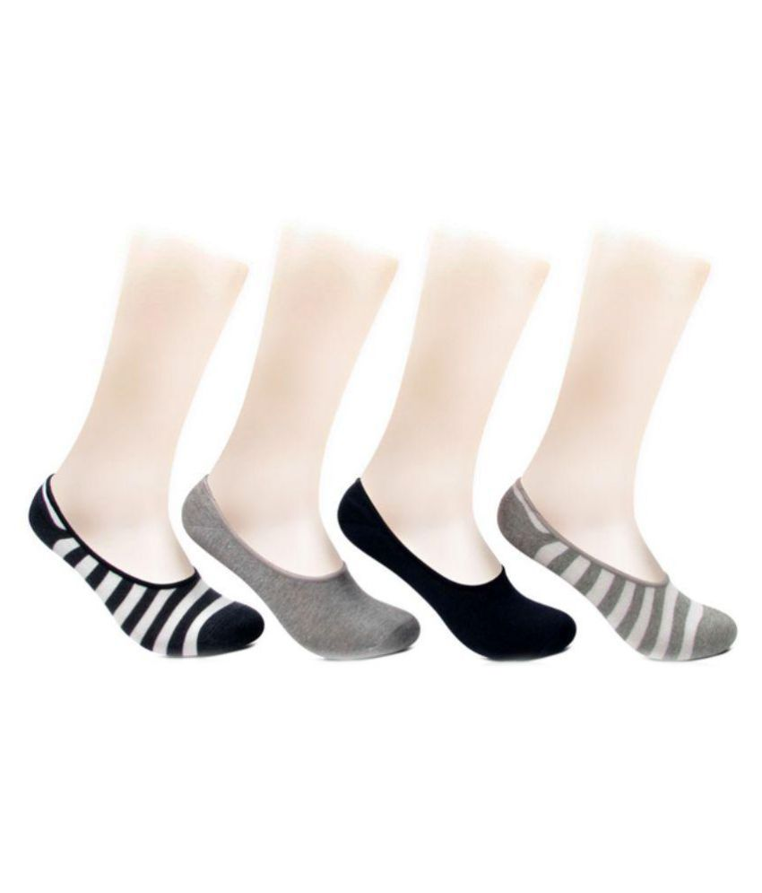 c1812cf16f1 Tahiro Multicolor Cotton Footie Socks - Pack of 4  Buy Online at Low Price  in India - Snapdeal