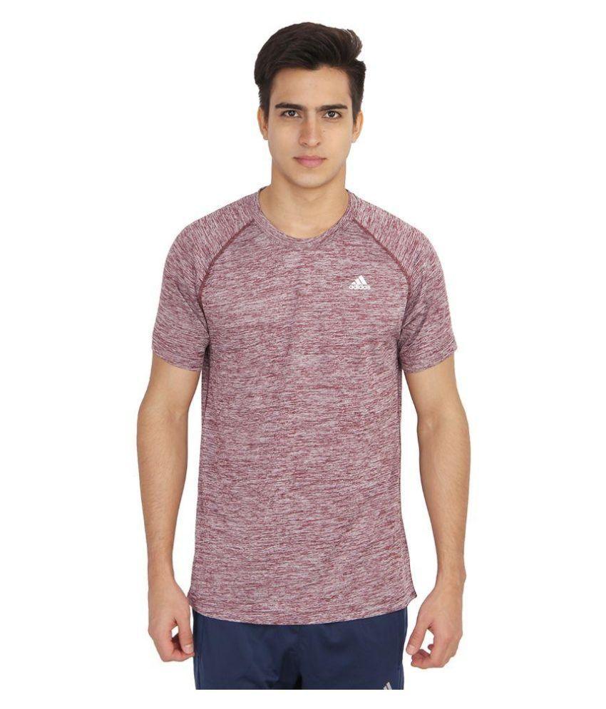 Adidas Maroon Round T-Shirt