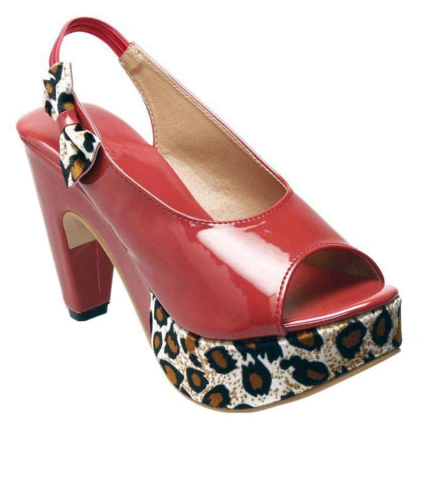 Catbird Red Block Heels