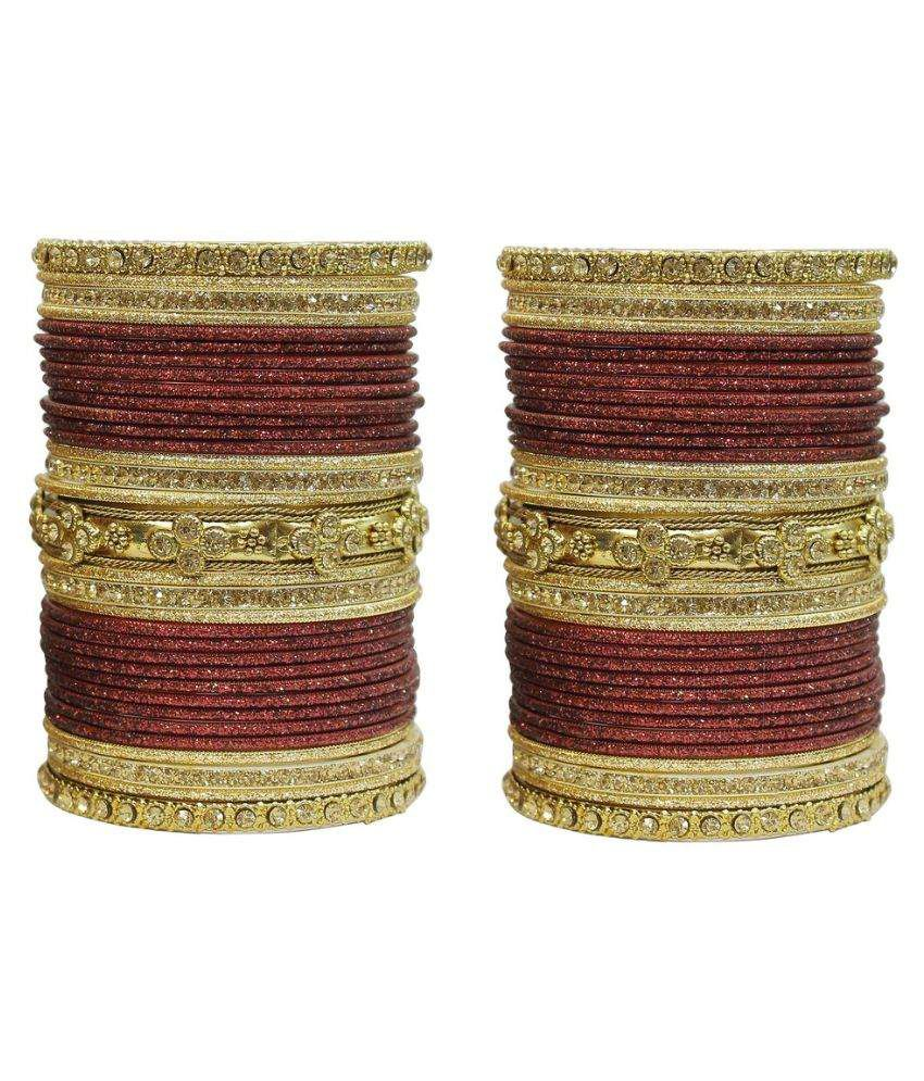 Much More Maroon Bangle Set