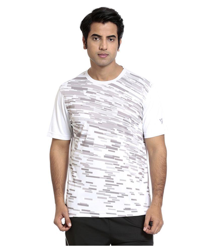 Seven White Polyster T Shirt For Men